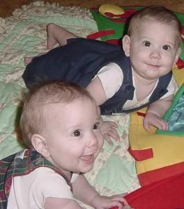 Andrew (front) Matthew (back)