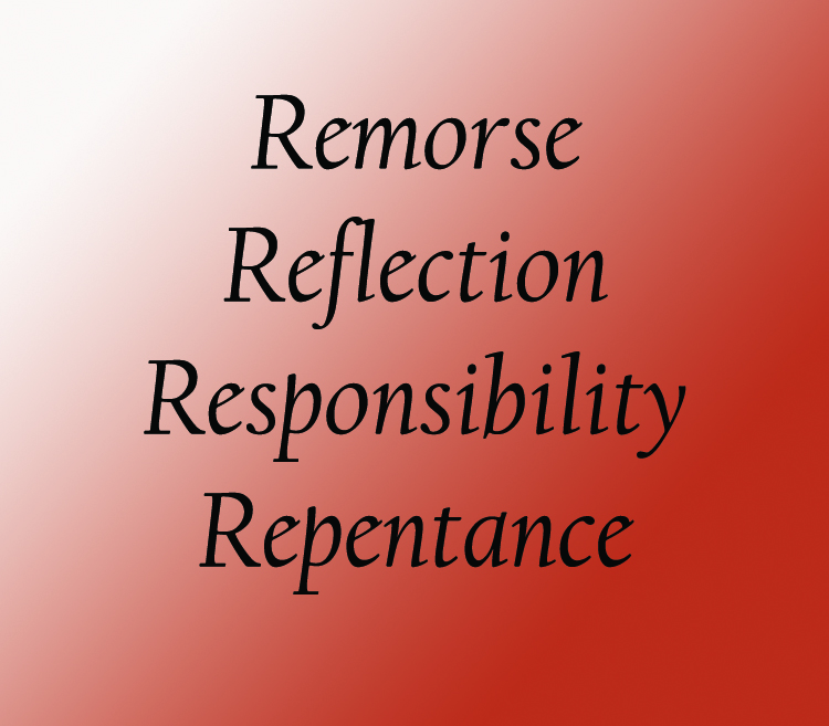 Relational Sanity Pt 6:  Remorse, reflection, responsibility and repentance