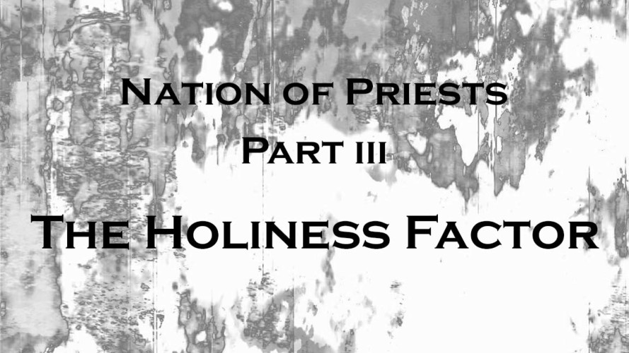 A Nation of Priests, Part III: Holiness