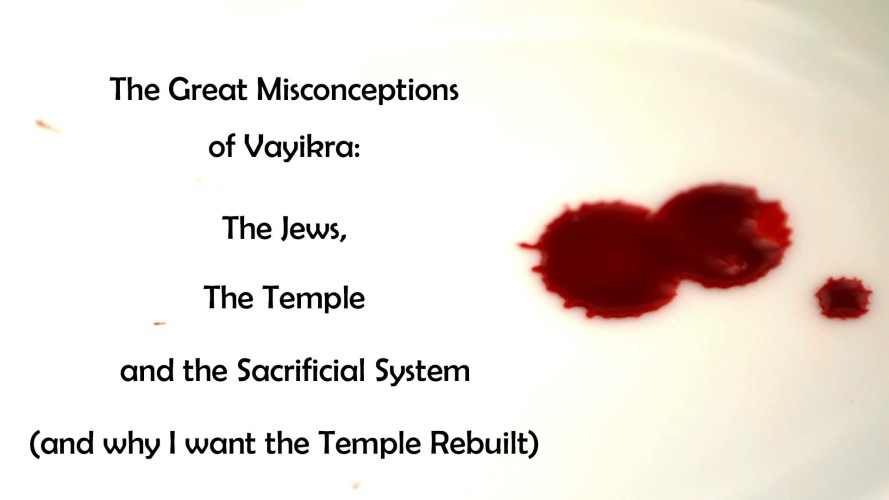 The Great Misconceptions of Vayikra: The Jews, the Temple, and the Sacrificial System