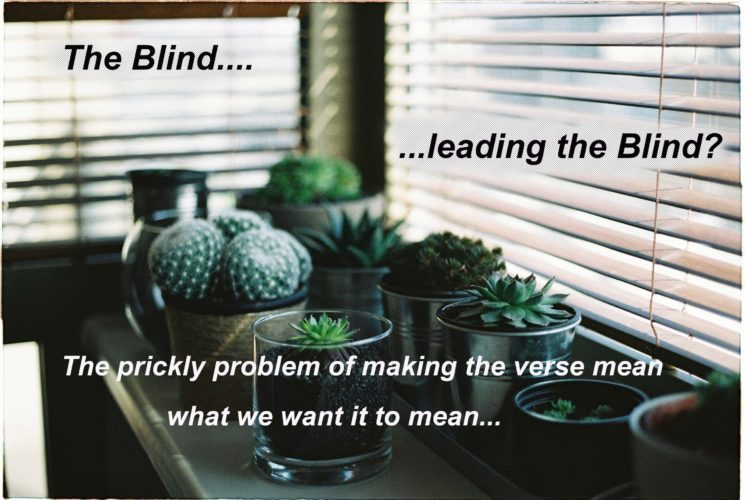 Most Abused Verses (and Memes) in the New Testament Pt 3: The Blind Leading the Blind