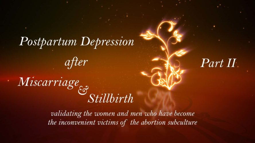Postpartum Depression after Miscarriage and Stillbirth Part 2: A World Destroyed