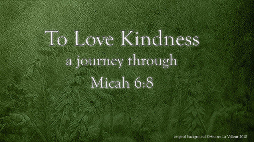 To Love Kindness (Micah 6:8) - 2016 Social Media Series