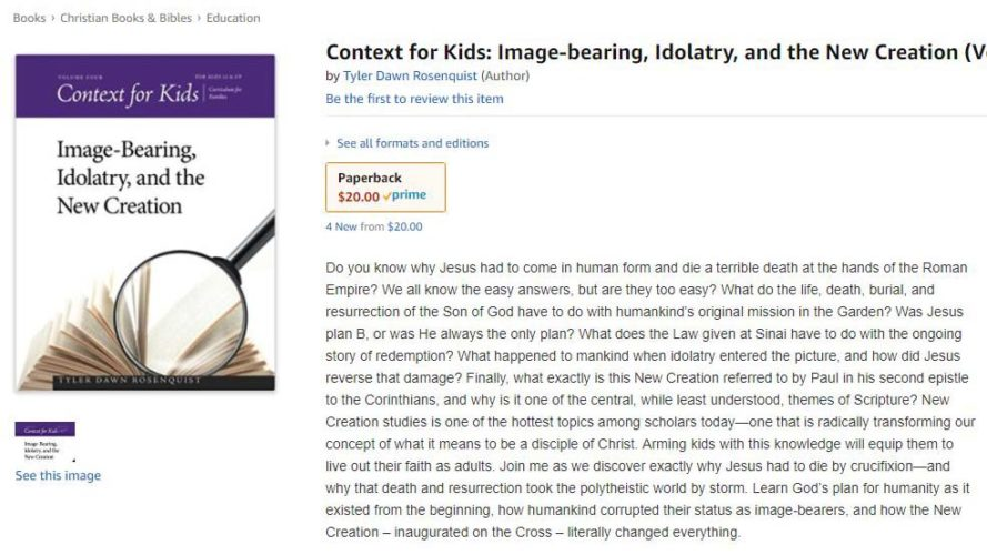 Context for Kids Volume 4 Now Available!