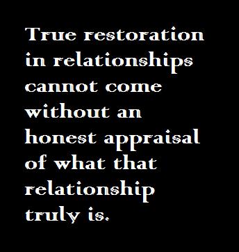 Relational Sanity:  Wisdom in Restoration