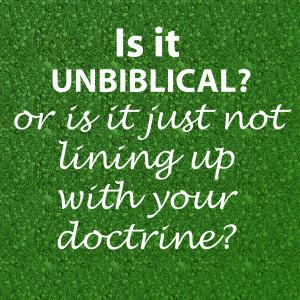 unbiblical